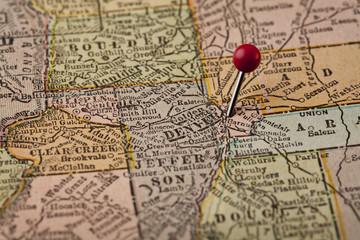 Denver and central Colorado map