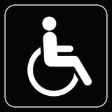disabled icon  sign vector poster