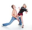 Girl seduces a guy