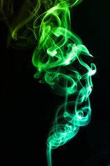 abstract wave smoke