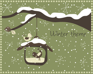 Winter theme, vector
