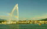 Biggest fountain in Europe, Geneva, Switzerland poster
