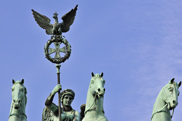 Quadriga on the top of the Brandeburg Gate