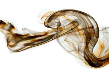 black-brown smoke in white background