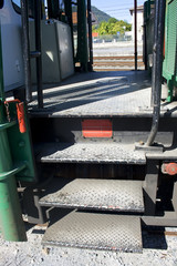 Escalera de vagón de tren