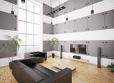 Modernes Wohnzimmer interior 3d