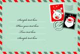 Fototapety Christmas envelope