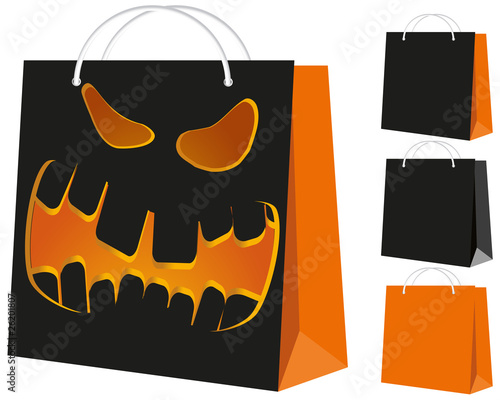 Set of shopping bags, vector illustration