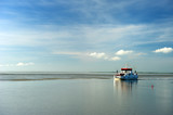 Ferry boat in the Dutch wadden sea