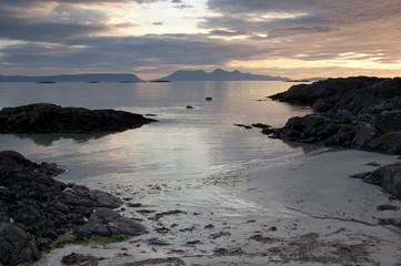 Arisaig beach with Inner Hebrides in distance