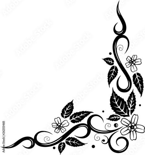 Vektor ranke floral filigran laub blätter blumen blüten