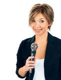 TV Correspondent on white background poster