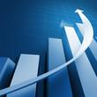 blue stat business background