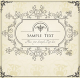 Vintage background for Book cover vector