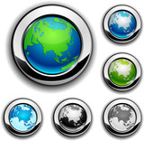 Earth buttons - Eurasia. poster