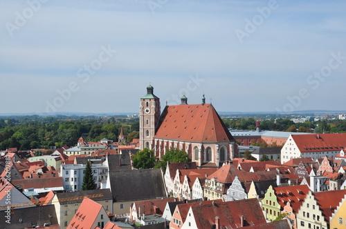 Leinwanddruck Bild Ingolstadt und Münster