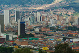 City center of Medellin, second biggest city in Colombia poster