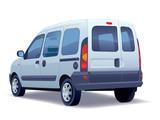 Fototapety Minivan on a white background