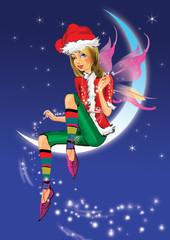 fairy elf on the moon