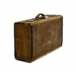 worn suitcase