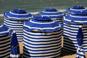 Normandie, la plage de Cabourg