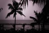 tropical lightning thunder storm poster