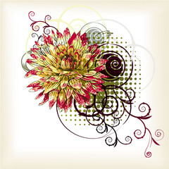 abstract background with  fantasy flower
