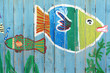 Leinwanddruck Bild - Kindermalerei