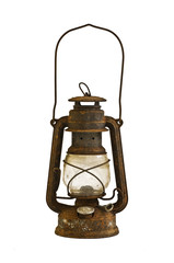 rusty oil lamp