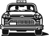 Fototapety Taxi Cab Vinyl Ready Vector Illustration