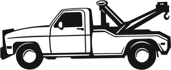 Tow Truck Vinyl Ready Vector Illustration