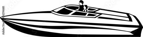 Power Boat Vinyl Ready Vector Illustration - 26214668