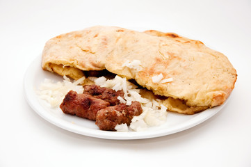 Kebab (Cevap) with onion