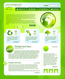 Green environment web design template