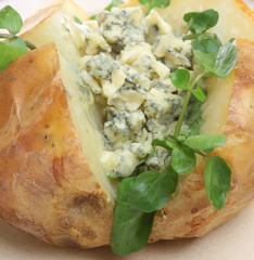 Jacket Potato with Stilton and Watercress
