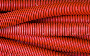 red corrugated pipe