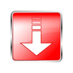 Button Pfeil unten rot
