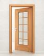 Door wood with glass
