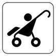 baby stroller symbol , vector
