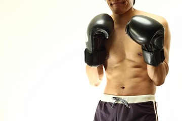 Male boxing fighter