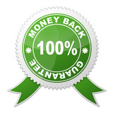 Sello 100% MONEY BACK GUARANTEE