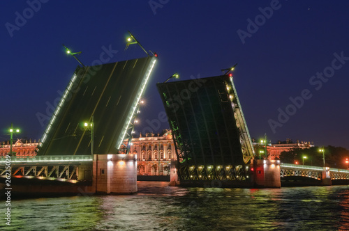 Saint Petersburg, Russia, Drawbridge