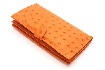 Ostrich leather wallet