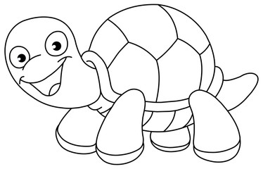 Outlined turtle
