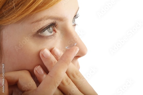 Fototapeta contact lense (white background)