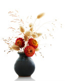 ikebana on white