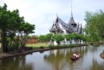 Ancient Castle on the River side. Thailand