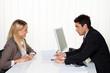 Beratungsgespräch. Beratung und Gespräch durch Berater.