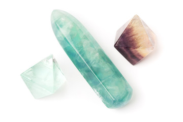 Fluorite crystals and stick