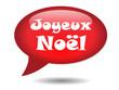 Icône Bulle JOYEUX NOEL (Carte Voeux Père Noël Cadeaux Décembre)